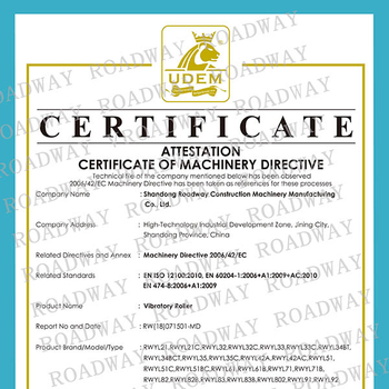 热烈祝贺我公司压路机系列产品通过欧洲CE安全认证